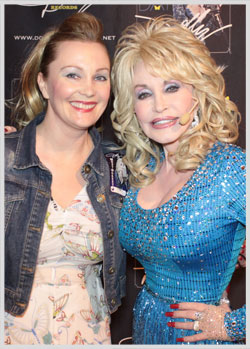 Andrea and Dolly at a recent gig in Manchester